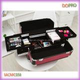 Fushia 악어 아름다움 장식용 메이크업 여행 가방 (SACMC058)