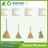 Vassoura de bambu do milho da palha do Sorghum do punho com grama Esparto de Silvergrass ou de Ironweed