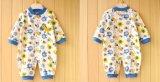 Personnaliser vêtements de bébé de barboteuse de chemise de coton mou pur d'internautes novice les longs