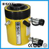 Cylindre hydraulique de double plongeur creux temporaire