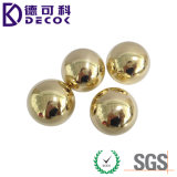 Bola de acero inoxidable de la pequeña bola de cobre amarillo sólida redonda C28000