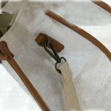 5 Farben überziehen Faltenbildung-Schliessen-große Kapazitättote-Beutel-Schulter-Beutel mit Leder (A082)
