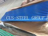 Le revêtement de mur en métal de couleur/a enduit la feuille d'une première couche de peinture ondulée galvanisée de toiture