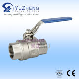 Steel inoxidável Thread 2PC Ball Valve no RUÍDO Standard