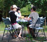 A tabela de jantar de dobramento carreg fácil ao ar livre a mais barata do plástico portátil