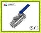 Le PC de l'usine 1 de la Chine a vissé le robinet à tournant sphérique d'extrémité de la NACE Mr0175