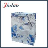 Glatten lamellierten Kunstdruckpapier-Funkeln-Weihnachtsverpackungs-Geschenk-Beutel anpassen