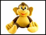 La fourrure bourrée de peluche de jouets adaptée aux besoins du client par logo badine le jouet