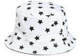カスタム高品質の平野の白い綿のバケツの帽子