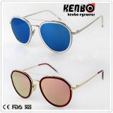 Новое Coming Fashion Metal Sunglasses с Flat Lenskm15247