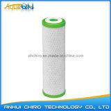 Cartouche filtrante de l'eau de carbone de noix de coco de 10 pouces (CTO)