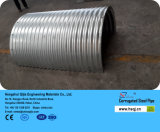 Труба рифлёного дренажа большого диаметра гальванизированная стальная
