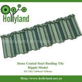 Azulejo de acero revestido de piedra de la ondulación del azulejo de material para techos (HL1103)