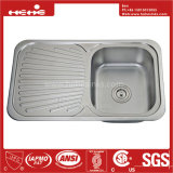 Spitzenmontierungs-einzelne Filterglocke-Küche-Wanne des Edelstahl-18-7/8 x 32-1/4 mit Abfluss-Vorstand