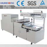 Machine à emballer complètement automatique d'emballage de film de rétrécissement de BS-400la + de Bmd-450c