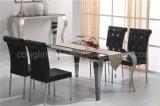 A maioria aço inoxidável famoso e de mobília de vidro do restaurante da parte superior