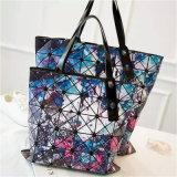 Deux sacs à main se pliants rhombiques de sac d'épaule de femmes de ciel étoilé de tailles (H002)
