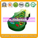 Жестяная коробка рождества, коробка олова рождества, упаковывать металла подарка