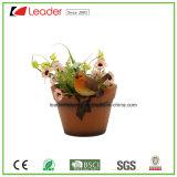 Potenciômetros de flor de Polyresin com o ornamento da borboleta para a decoração da HOME e do jardim