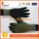 Handschoen van het Nitril van Ddsafety 2017 de Vuilgele Nylon Zwarte