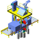 2.5 Máquina superficial del chorreo con granalla de la placa de acero de la limpieza de los contadores (Q6925)
