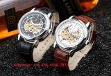 Relógio gama alta dos homens automáticos populares do OEM com a cinta de couro genuína Fs517