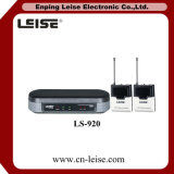 Ls-920 het dubbele Systeem van de Microfoon van het Kanaal UHF Draadloze