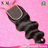 100%の加工されていない卸し売りバージンブラジルボディ波の毛の閉鎖4X4