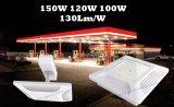 Shenzhen Fábrica de alta calidad brillante estupendo 130lm / W 150W 100W 120W LED Gas Station Iluminación