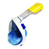 Blaue Tauchens-Oberflächen-tauchende volles Gesichtsnorkel-Schablone mit Ohrenpfropfen ohne Kamera-Montierung