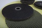 "disco de la solapa del óxido de aluminio 4 "" 4.5 "" 5 "" 6 "" 7 "" con la pista del forro de la fibra de vidrio"