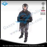 찌르기 증거 반대로 난동 한 벌 또는 안전 보호 경찰 장비 헬멧 방패 반대로 난동 한 벌