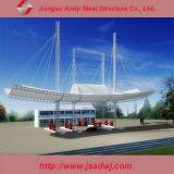 디자인 크 경간에 의하여 직류 전기를 통하는 가벼운 강철 공간 프레임 주유소