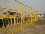 Cerca provisória da cerca revestida quente do PVC da venda com sustentação
