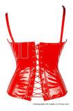 Корсет Cincher красного шкафута женщин кожаный