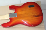 Нот Hanhai/красная левша электрическая басовая гитара с белым Pickguard