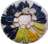Ddsafety 2017 связанных перчаток запястья руки голубым покрынных нитрилом работая