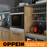 Gabinete de cozinha Pre-Assembled grão da madeira de Oppein 360cm (OP17-HPL01)