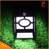 Lâmpada de parede ao ar livre impermeável do caminho do jardim da cerca da luz da potência solar da luz do sensor de movimento de 10 diodos emissores de luz
