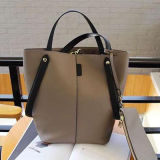 Le cuir véritable Crossbody d'emballage dernier cri de femmes met en sac 2PC/Set Emg4772