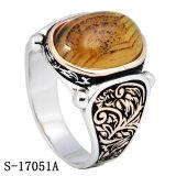 925 de zilveren Ringen van de Mensen van de Manier met Natuurlijke Steen