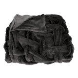 Tiro suave estupendo de la piel del Faux con la manta doble de la felpa