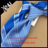 Lazo tejido seda hecha a mano de las rayas del cuello del Mens del 100%