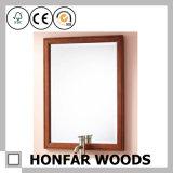 Blocco per grafici di legno classico dello specchio del Brown di rettangolo per la stanza da bagno dell'hotel