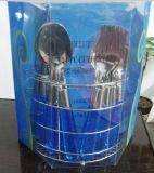 Cutelaria plástica do punho 16PCS ajustada com pacote do PVC