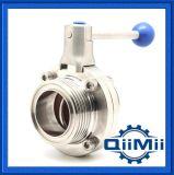 Válvula de Mariposa de Acero Inoxidable 304 316L, Funcionamiento Manual/neumático