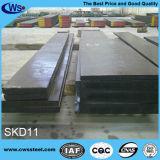 Plaque en acier 1.2379 de moulage froid de travail d'acier allié