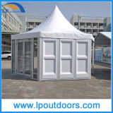 12m im Freien Luxuxhexagon-Pagode-Zelt mit ABS Wand für Ereignis