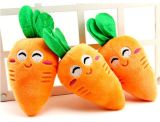Giocattolo stridulo dell'animale domestico &Stuffed peluche del reticolo della carota per il cane