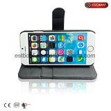 Cuero con las cubiertas del teléfono de la fibra para iPhone7